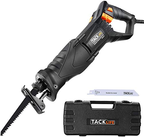 Sierra Sable Tacklife 850W, 0~2800rpm, Cuenta con LED, 2 Hojas (Madera 6T HCS,...