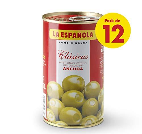 La Española - Aceitunas verdes rellenas de anchoa clásicas