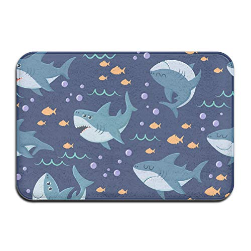 NA Cartoon haakpatroon Seamless Ocean Swim Rug Deur Mat Entrance Rug Floor Mats voor voorkant Outside deuren United Carpet 50 x 80 x 1,3 cm