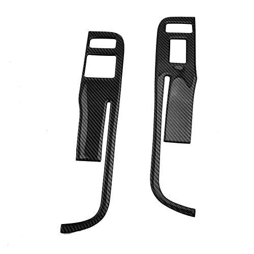 FEICHUAN 2 Unids Fibra de Carbono Black Window Interruptor de la Ventana Cubierta de Recorte Adecuado para Chevrolet Camaro 2015 2015 2013 Solamente la Unidad de la Mano Izquierda