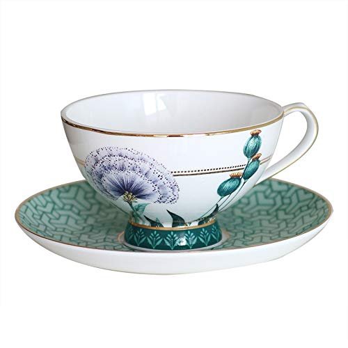 zxb-shop Ceramic Cup Phnom Penh Bone China Coffee Cup European Small Luxury Exquisite English Afternoon Tea Cup Retro Porcelain Coffee Cup Set Tea Cup (Color : B)