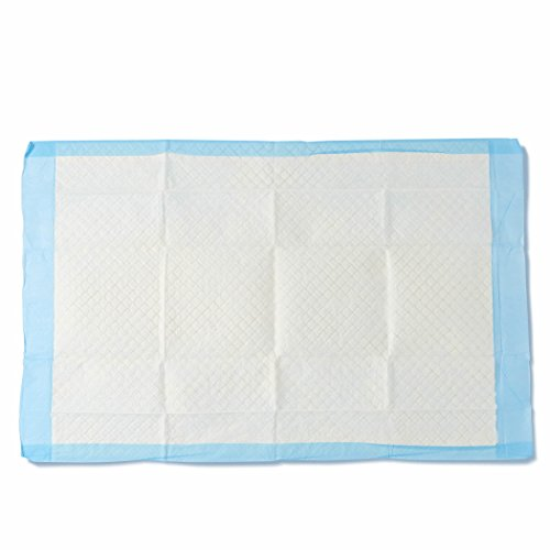 Medline Moderate Absorbency Disposable Quilted Fluff Underpads, 23 x 36 inches, 150 count (25 underpads per bag) - MSC281264, Blue