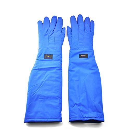 SGLI -250 °C Anti-vloeistof Stikstof Antivries Handschoenen Experiment LNG Anti-statische Koude Opslag Droge IJs Koude Warme Handschoenen Blauw Verlengd 68cm