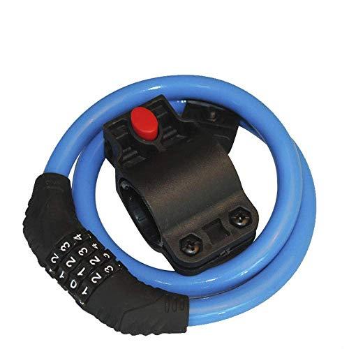 Blocco Pad Lock 4 cifre Password Blocco Bike Rotazione Security 360 Acciaio Bicicletta Cavo antifurto Wire Lock-Giallo Huangwei7210 (Color : Blue)