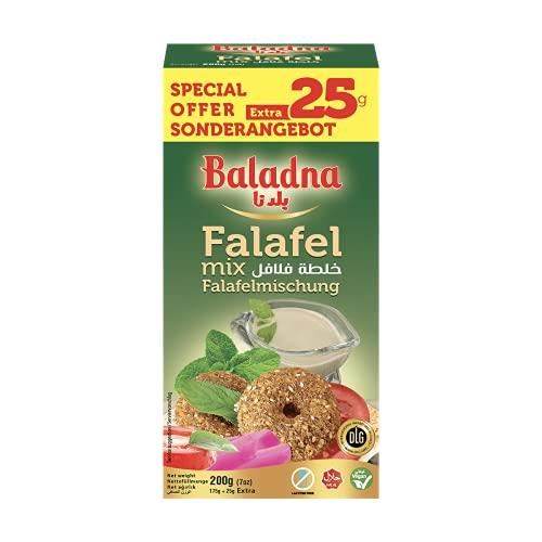 Baladna Falafel Mix | 1x 200g | Dry mix | Made from Chickpeas | Premium Falafel Mix | Vegetarian | Vegan | Oriental breakfast | Gluten-free | 7 oz | Easy to prepare | Arabic Falafel Mix