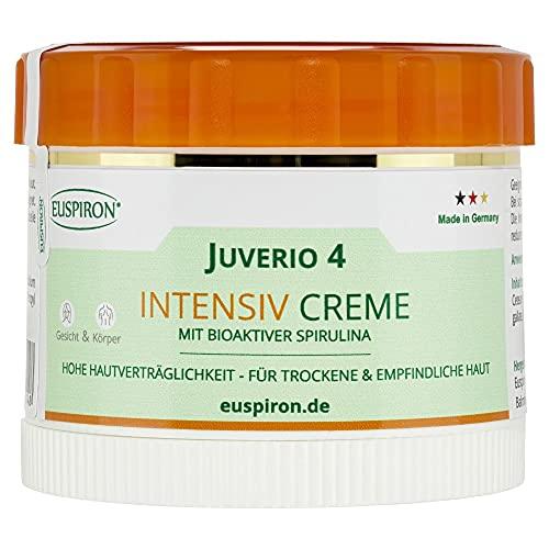 Juverio 4 - Intensiv Creme mit 4% Spirulina (50 ml) - für unreine und trockene Haut-Neurodermitis, Schuppenflechte, Rötungen, Entzündungen, Juckreiz