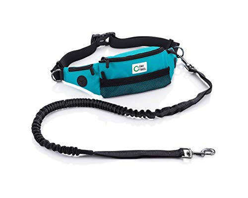 """One Trail Hands Free Dog Leash (Teal) 