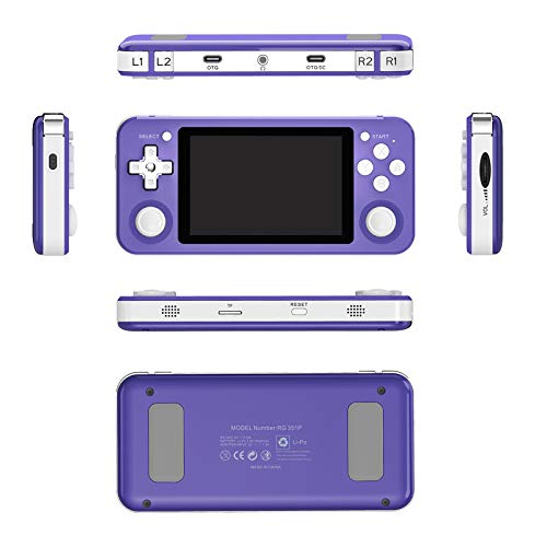 BSTQC Handheld Game Console, RG351P Retro Game Console, Open Source System Video Game, 64GB Memory With 2500+Games, 3.5 inch IPS Screen Game Player, 3500mAh Rechargeable Battery