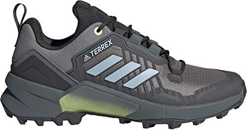 adidas Women's Terrex Swift R3 Hiking Shoe, Grey Three/Halo Blue/Hi-Res Yellow - 7.5