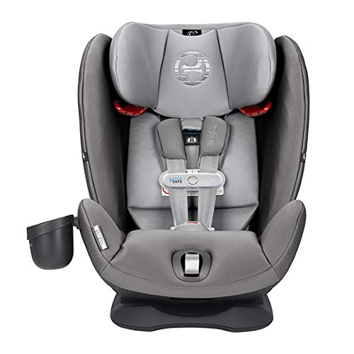 Cybex Gold Eternis S All in 1 Convertible Toddler Baby Infant Rear or Forward Facing Car Seat with SensorSafe, Lavastone Black