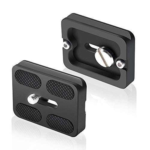 """UTEBIT PU-50 Schnellwechselplatte Adapter 2 Stück Quick Release Plate Kamera Stativ Schnellwechselplatte mit 1/4"""" Kameraschraube Kompatibel für Gimbal Kamera Schnellwechselplatte"""