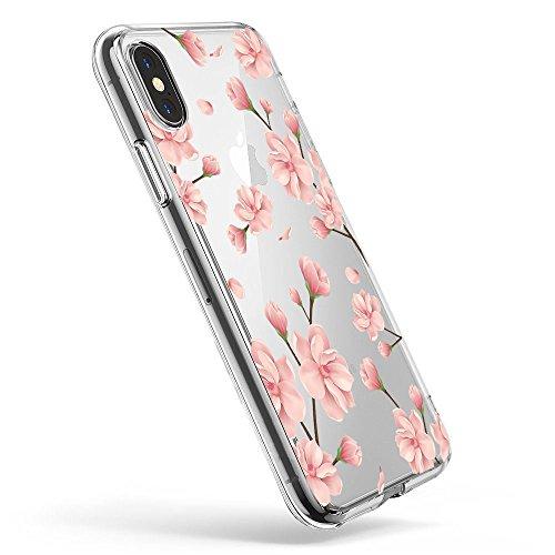Pacyer iPhone X Hülle Silikon Ultra dünn Transparent Handyhülle Rückschale TPU iPhone X Schutzhülle für Apple iPhone X Case Cover Mädchen Elefant Federn (5)