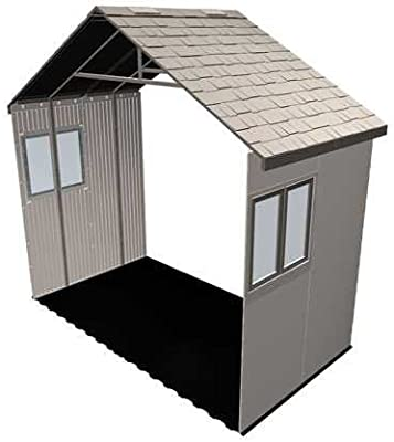 Lifetime 6426 60 Inch Extension Kit for 11 Foot Sheds, 2 Windows Included, Desert Sand
