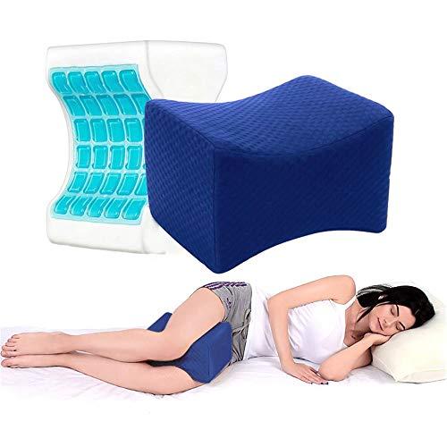 Kniekissen, Orthopädisches Knie-Kissen für Hüfte, Memory Foam Kniekissen Schlafen sorgt für Druckentlastung von Hüft-, Rücken- und Knieschmerzen, Beinkissen für Seitenschläfer, Leg Pillow