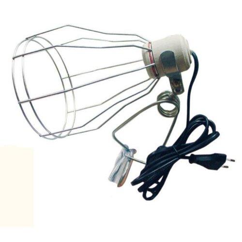 Terra Exotica Gitter Klemmlampe ideal für Osram Ultra Vitalux bis 300 Watt, Gitterklemmlampe