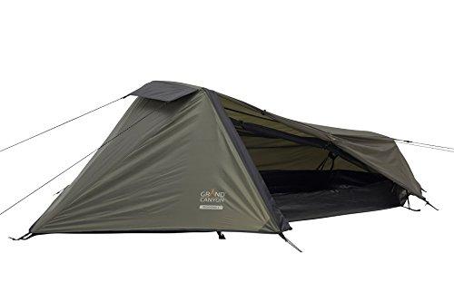 Grand Canyon Richmond 1 – leichtes 1 Person Zelt für Trekking, Camping, Outdoor, Festival, kleines Packmaß, Wasserdicht, olive/schwarz, 302008