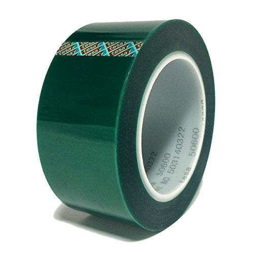 tesa 50600Polyester Abkleben und Verbindung, 5,1cm X,, hitzebeständige und Silikon selbstklebend, Farbe grün