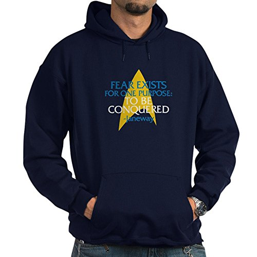 CafePress Star Trek: Janeway Fear Quote Sweat-shirt à capuche - Bleu - XXX-Large