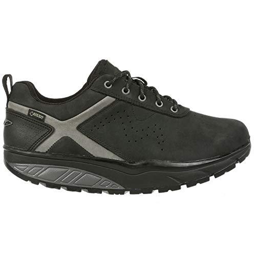 MBT Hombre Zapatos de Cordones KIBO GTX M, de Caballero Patín de Ruedas,Suela Curva,Zapato Sanitario,Impermeable,Black,47 EU, 12 UK