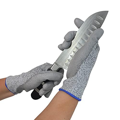 AJA JUNGFLEISCH seit 1919 Schnittschutzhandschuhe Cut 5, 1 Paar schnittfeste Handschuhe Größe 8 für Kinder, Damen, Herren, Schnittschutz Arbeitshandschuhe Schutzhandschuhe Küche Messer Handschuh