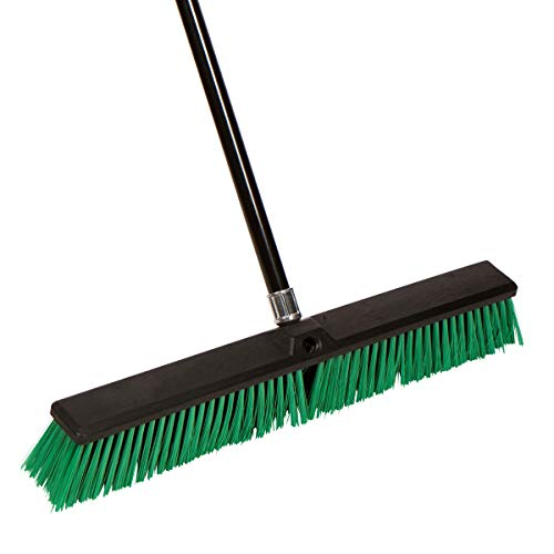 Tidy Tools Large 24'' Rough-Surface Push Broom with Alloy Handle