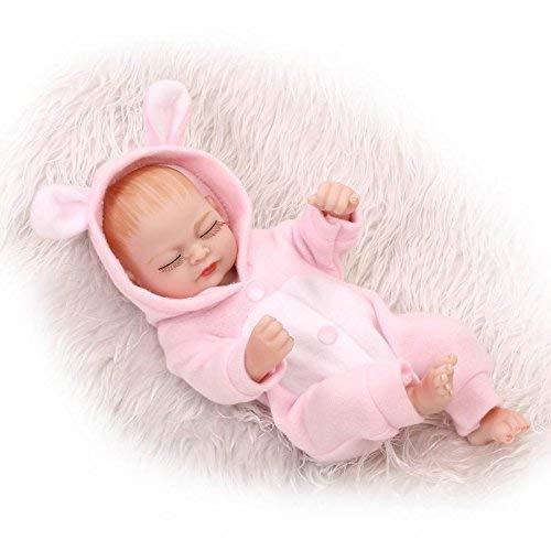 FACAIA Rebirth Doll, Juguetes para niños, 10 Pulgadas, 26 cm, Aspecto Real, Vinilo Completo, Cuerpo de Silicona, Real, Realista, renacido, muñeca Realista, recién Nacido, muñecas, niña Durmiente,