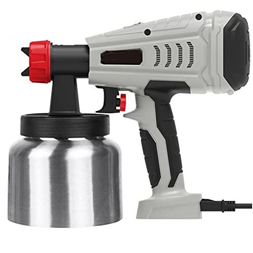 Soglen Pistola de Pintura 600W, Pistola de Pulverizacion Pintura Eléctrica 2 boquillas(1.0mm/1.8mm),...