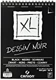 Álbum Espiral Microperforado, A4, 40 Hojas, Canson XL Black, Grano Fino 150g Negro