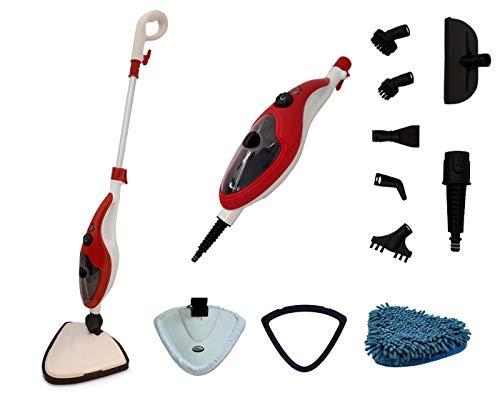 Aqua Laser Brilliant Dampfreiniger zum Boden reinigen und desinfizieren ohne Reinigungsmittel, inklusive 13 teiligem Zubehör Set