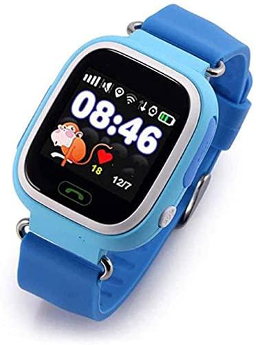 YHQKJ Pantalla táctil de Reloj Inteligente, Relojes telefónicos para niños, GPS LED SOS Llamar al teléfono Teléfono para niñas Boys 3-12 años, Regalo de cumpleaños para niños, Azul