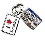 GIFTSCITY I Heart Jerusalem Keychain Keyring The City of Israel Keychain