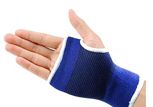 A Paire de Leng thened Tricot Poignet Palmier schützende Soutien Wrap Poignet Bande Support Gants sans Doigts soulager la Douleur. pour Sport Protect