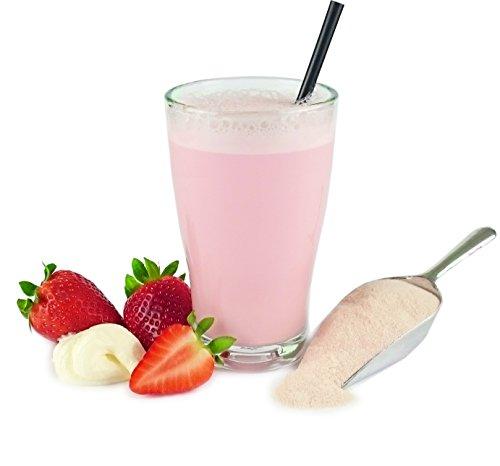 Vital-Molke-Drink - Molkepulver 500g - Molkekur - Abnehmen mit Trinkmolke, verschiedene Sorten (Erdbeer-Joghurt)