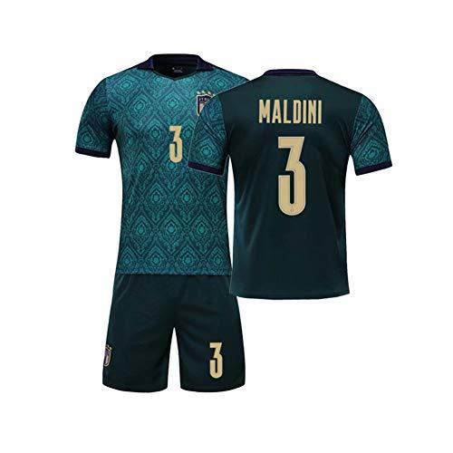 Italienische Fußballmannschaft # 3 Paolo Maldini Fußball Trikot Setzt Für Fan Männer Jungs,Grün,11 Years