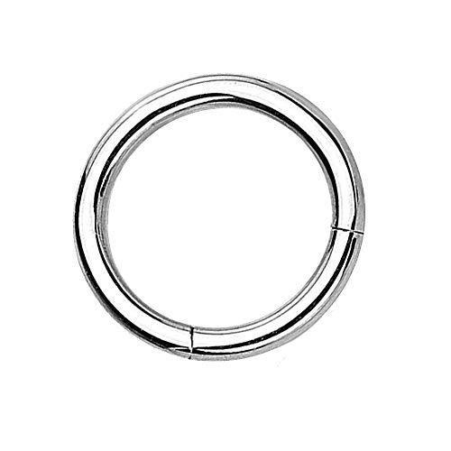 eeddoo Piercing-Ring Segment-Clicker Segment-Ring Silber Edelstahl 1,0 mm x 6 mm