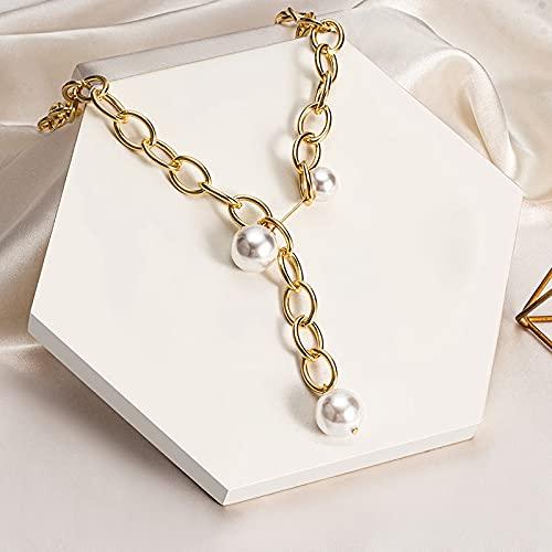 KONZFK Collar Cadenas de enmascaramiento de Gafas de Sol para Mujer, Cadenas de anteojos de Cristal de Perlas acrílicas Creativas, 2021, nuevos Accesorios de joyería de Moda
