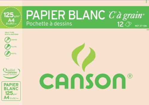 Canson Pochette dessin C 21x29 12 Feuilles 125g