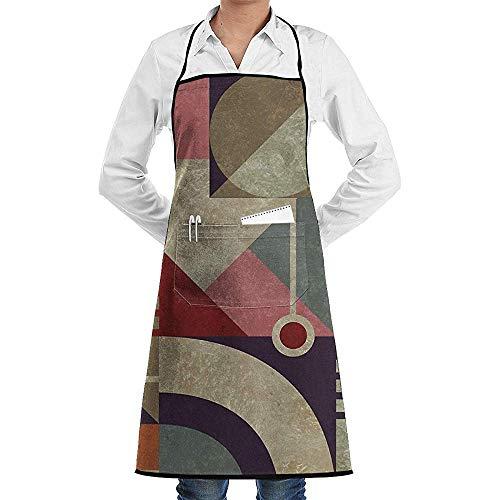 My Bauhaus Delantal de Chef de Cocina Unisex Ajustable con Bolsillos para cocinar Hornear Elaboración Jardinería y Barbacoa