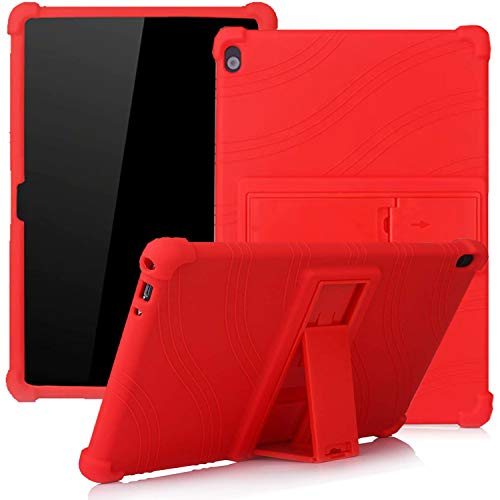 Lenovo Tab M10 TB-X505F TB-X605F TB-X705F 10.1-inch, ATOOZ PC Holder Tablet Silicone Case, All-inclusive Anti-drop For Lenovo Tab M10 Case(Red)