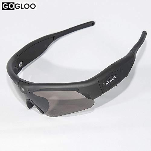 Gafas de Sol de Alta definición con Camera Sport Sumergible, grabación de vídeo Full HD 1080p, WiFi, Filtro UV400, para Deporte, Actividades Plein Air,..., 0.11, Color Negro