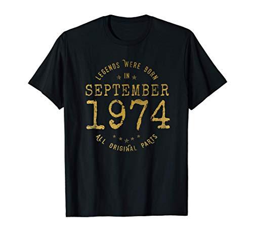 Las Leyendas nacen en Septiembre de 1974 Camiseta