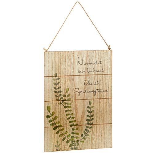 Preis am Stiel Holzschild ''Garten'' | Wandbild | Dekoschild | Holzbild | Schild | Bild mit Spruch | Gartendekoration | Wanddeko