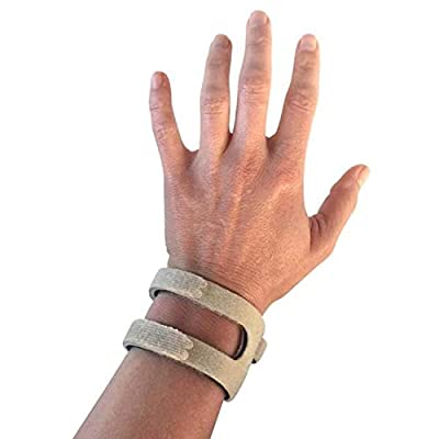 WristWidget (TM) - Patented, Adjustable Support, Wrist Brace For TFCC Tear- Ulnar Sided Wrist Pain, Weight Bearing Strain, Made in USA - Left Or Right Hand - One Size Fits Most - Tan