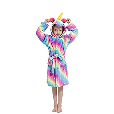 CHENXIN Toddler Kids Animal Coral Fleece Hooded Bathrobe Pajamas Sleepwear