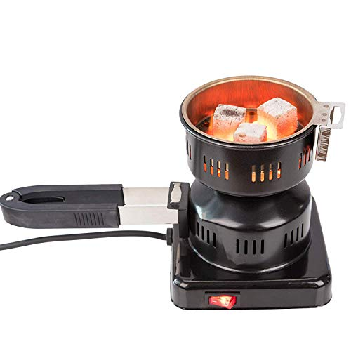 RMAN® Elektrischer Kohleanzünder Shisha Kohle Grill 450W Heizplatte Brenner E-Heater Kohlebrenner mit Abziehbarer und multifunktionaler Griff
