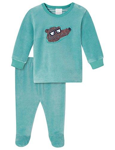 Schiesser Baby-Jungen Anzug 2-teilig Zweiteiliger Schlafanzug, Blau (Türkis 807), 68 (Herstellergröße: 068)