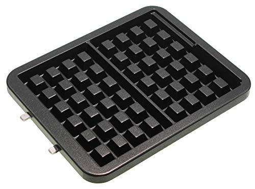 Waffelplatte TS-01040300 -1 Stück- kompatibel mit Krups FDD95D Waffeleisen, Waffelautomat