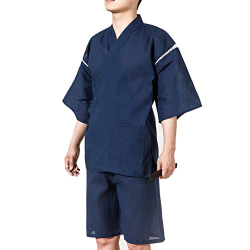 Traje de Pijama Kimono de Estilo japonés Jinbei para Hombres Tamaño XL-A09