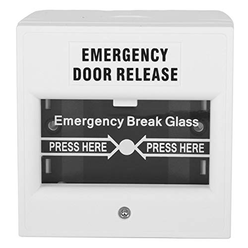 Vipxyc Botón de Emergencia Botón de Seguridad Botón de Seguridad Rotura de Vidrio Botón de Alarma Blanco Botón de Alarma de Incendio Liberación de Vidrio de Seguridad Rotura