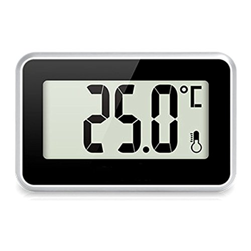 Digital Refrigerator Thermometer - Suker Fridge Freezer Room Thermometer, Max/Min Record Function with Large LCD Display